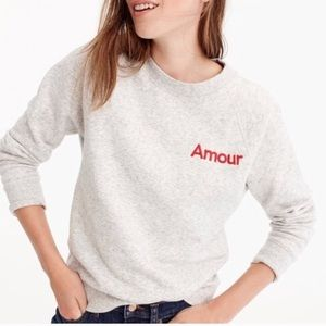 J. Crew Amour Heather Gray Crewneck Pullover Small